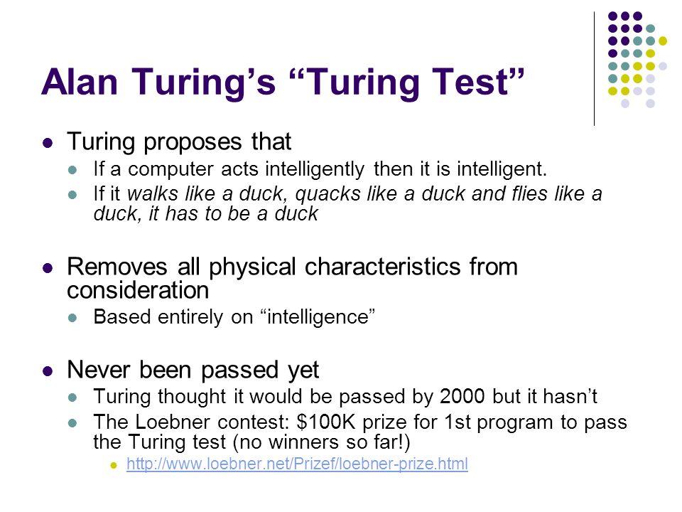 Alan Turing's Turing Test