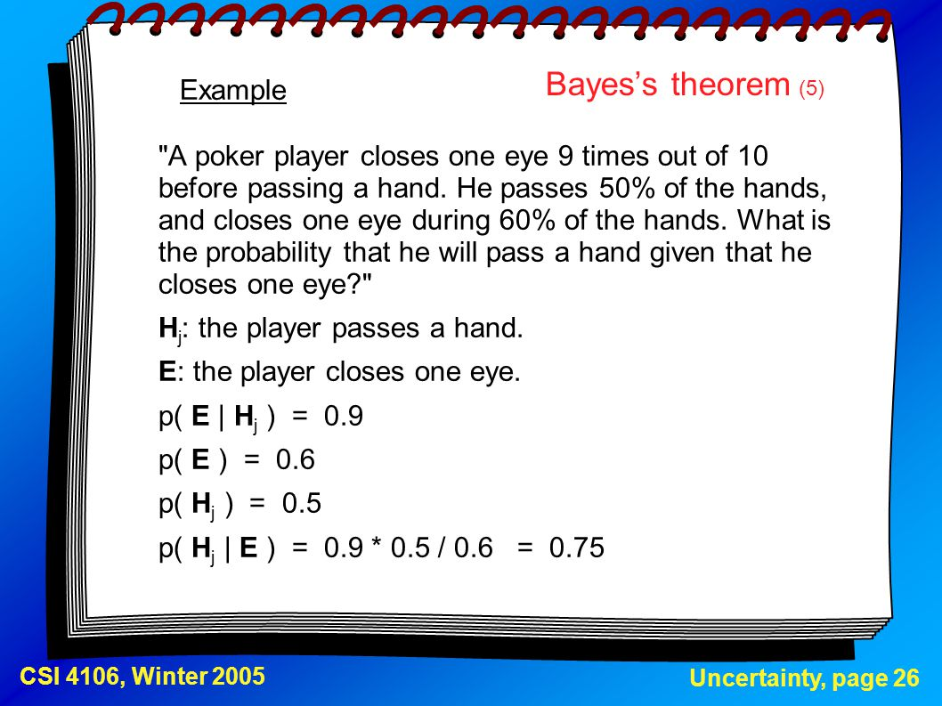 Bayes's theorem (5) Example