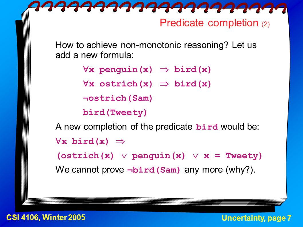 Predicate completion (2)