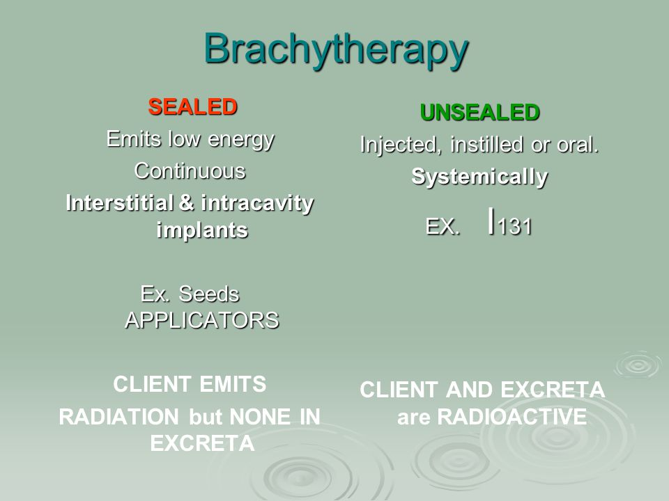 Interstitial & intracavity implants