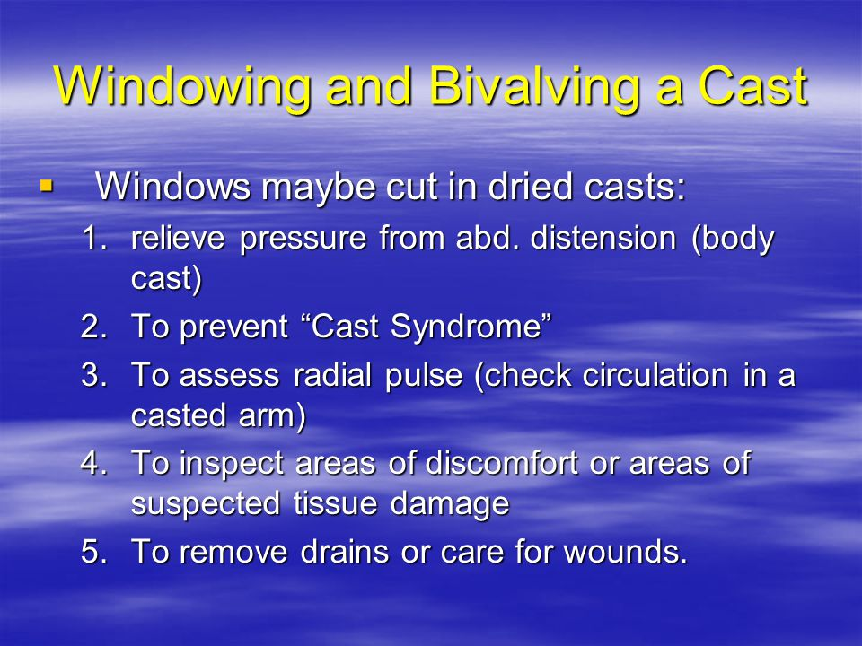 Windowing and Bivalving a Cast