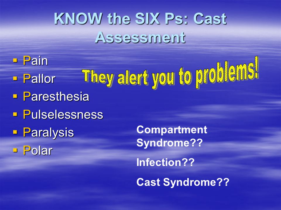 KNOW the SIX Ps: Cast Assessment