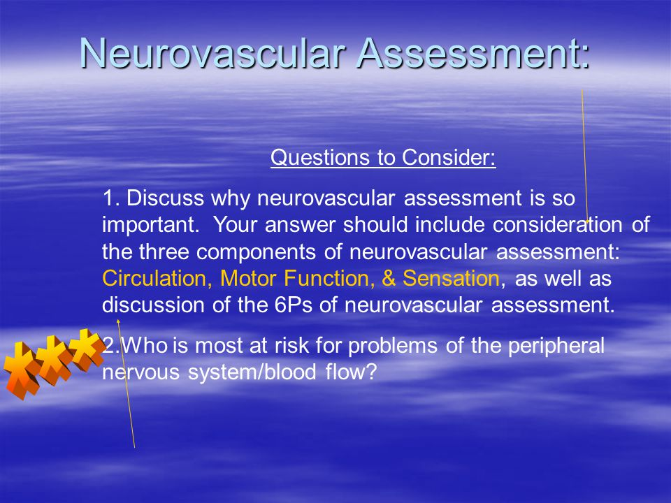 Neurovascular Assessment:
