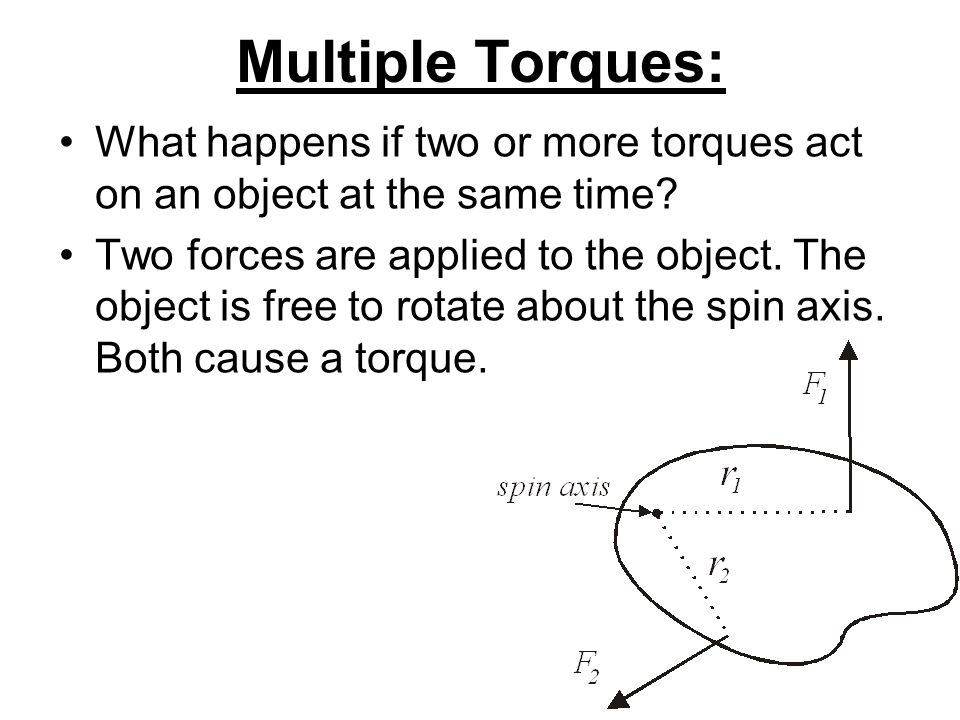 Multiple Torques: What happens if two or more torques act on an object at the same time