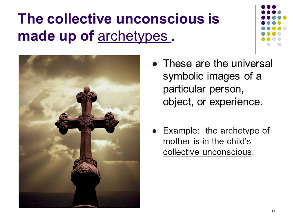 The collective unconscious is made up of archetypes .