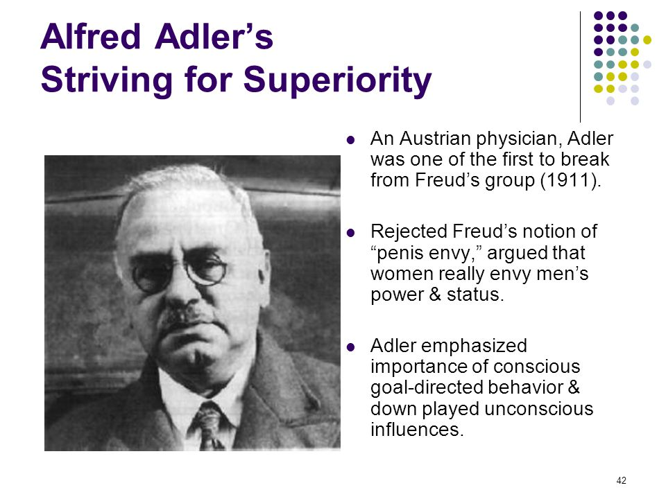 Alfred Adler's Striving for Superiority
