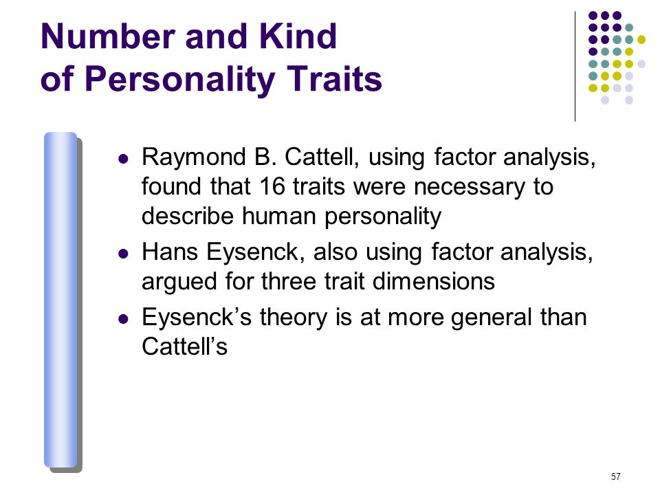 Number and Kind of Personality Traits