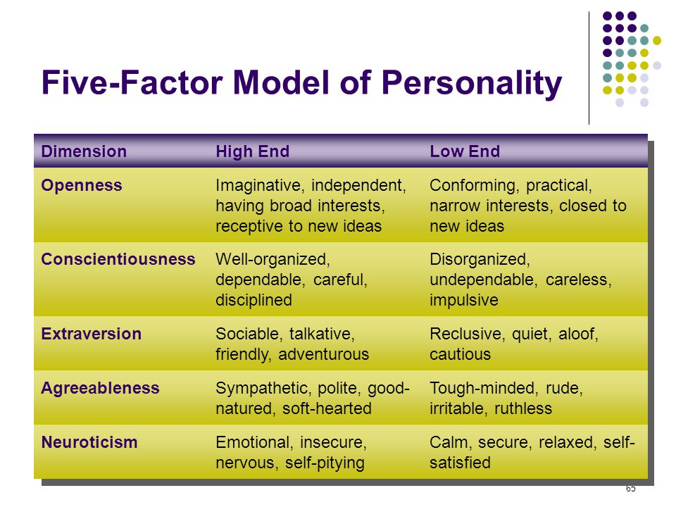 Neuroticism and the five factor model essay
