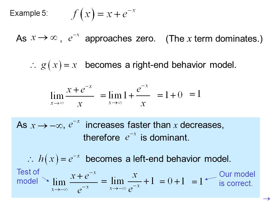 becomes a right-end behavior model.