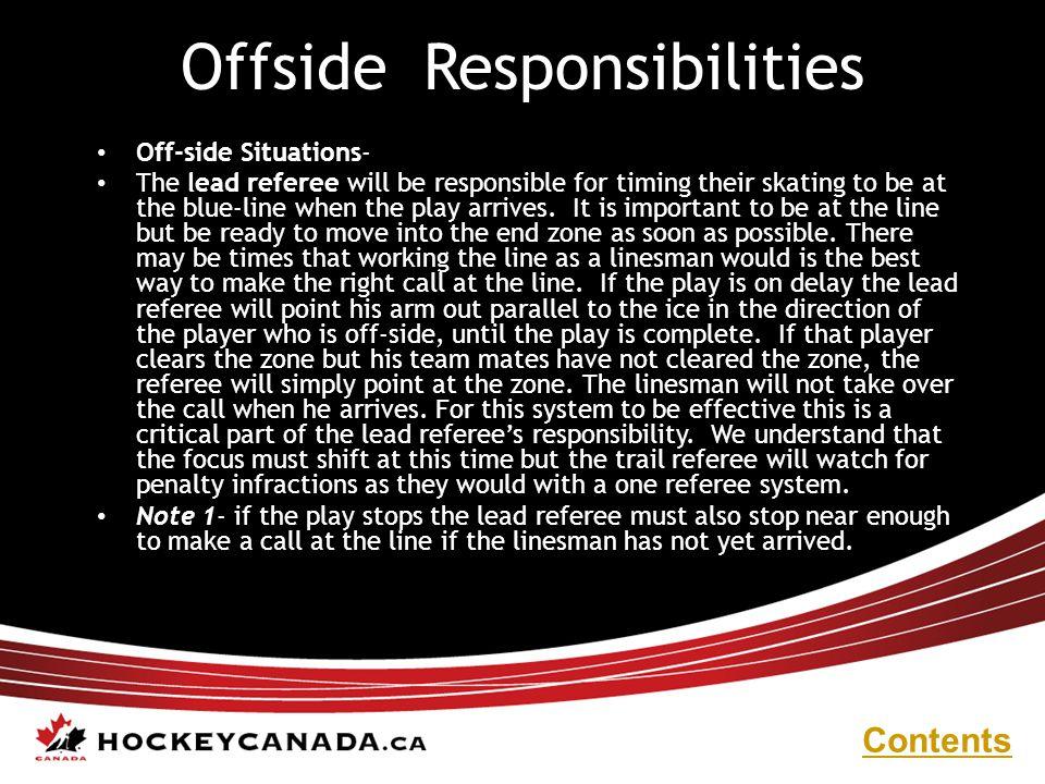 Offside Responsibilities