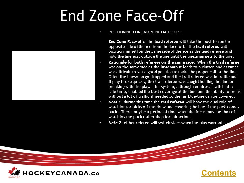 End Zone Face-Off Contents