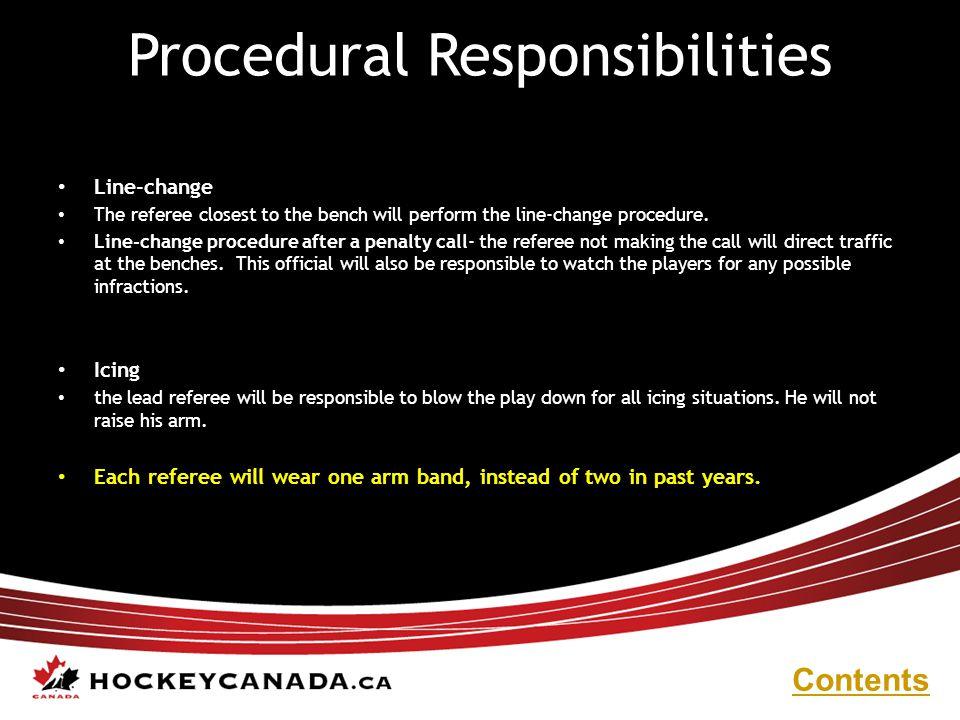 Procedural Responsibilities