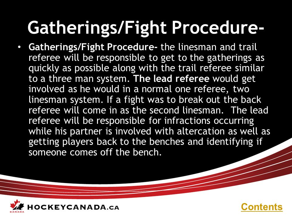 Gatherings/Fight Procedure-