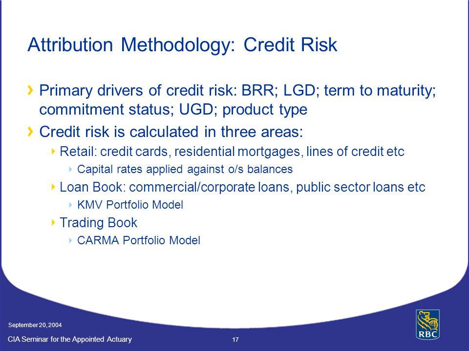 Attribution Methodology: Credit Risk
