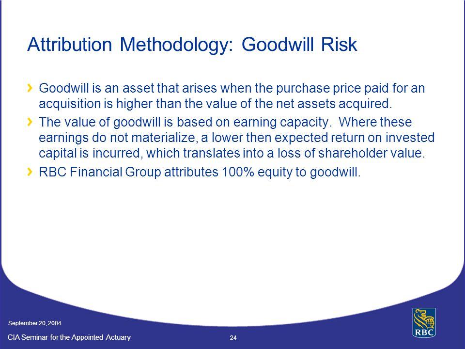 Attribution Methodology: Goodwill Risk