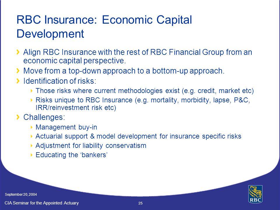 RBC Insurance: Economic Capital Development