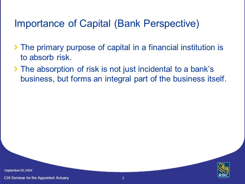 Importance of Capital (Bank Perspective)