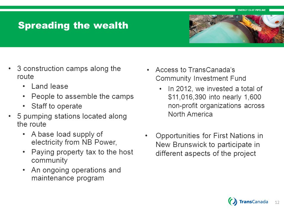 Spreading the wealth 3 construction camps along the route Land lease
