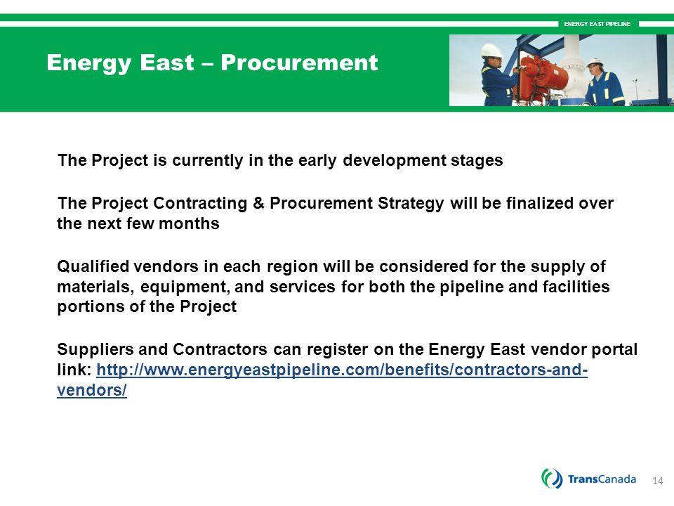 Energy East – Procurement