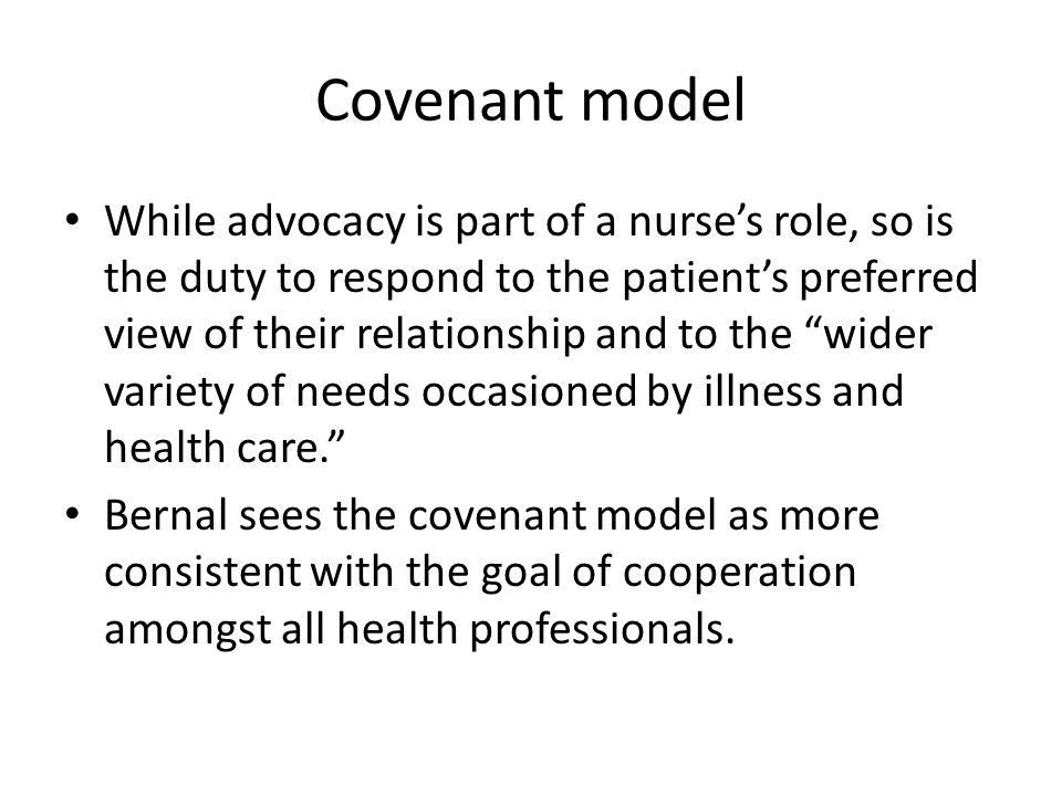Covenant model