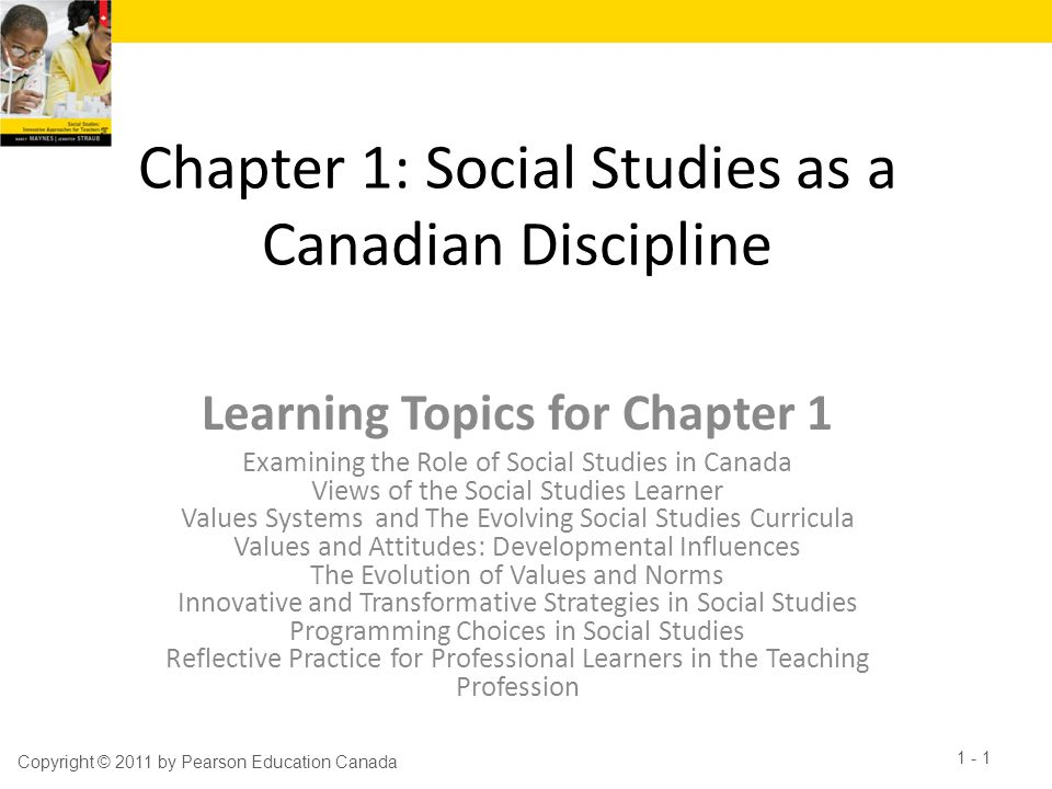 Chapter 1: Social Studies as a Canadian Discipline