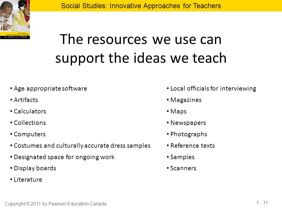 The resources we use can support the ideas we teach