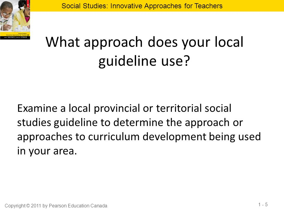 What approach does your local guideline use