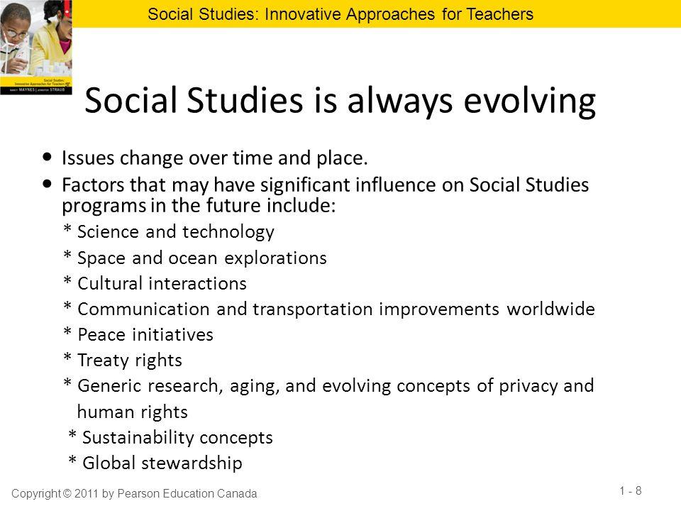 Social Studies is always evolving