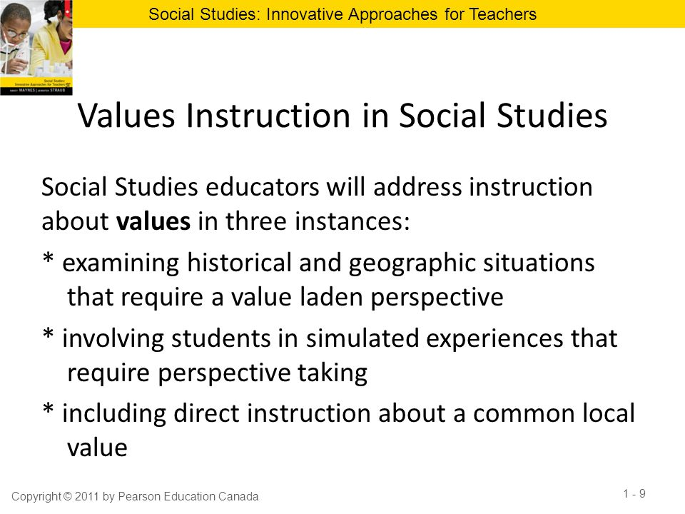 Values Instruction in Social Studies