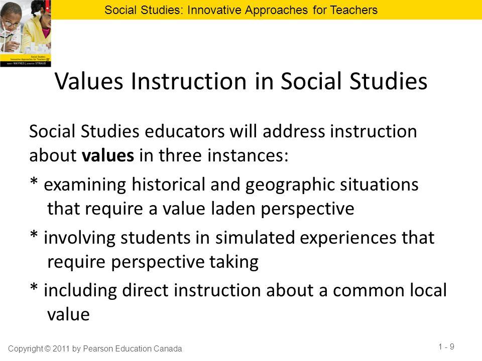 Values Instruction in Social Studies