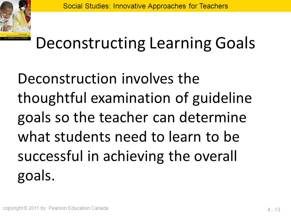 Deconstructing Learning Goals