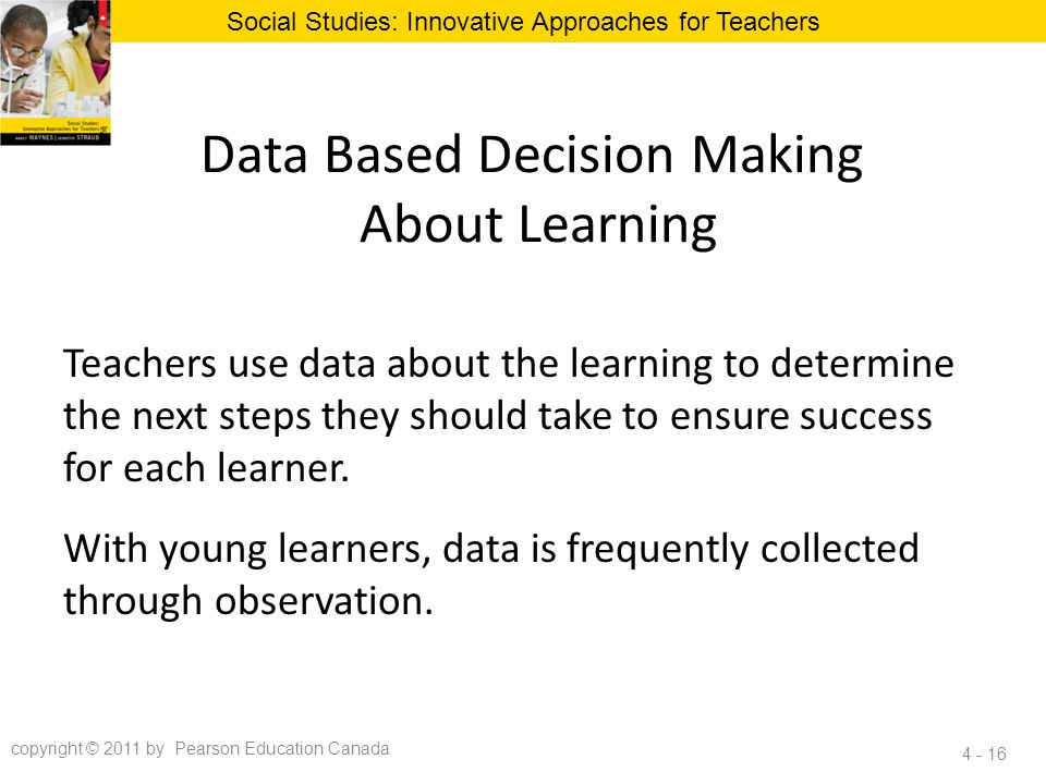 Data Based Decision Making About Learning