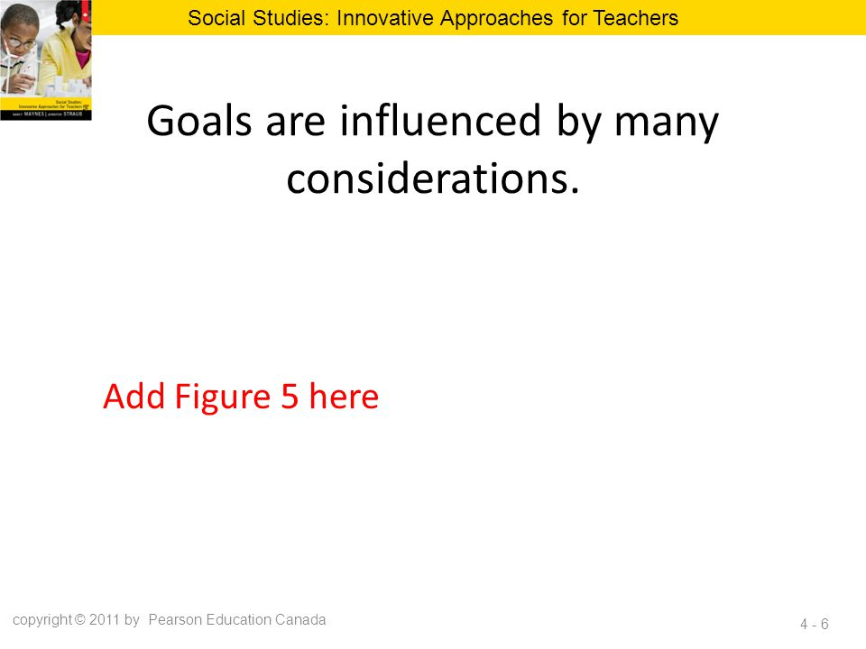Goals are influenced by many considerations.
