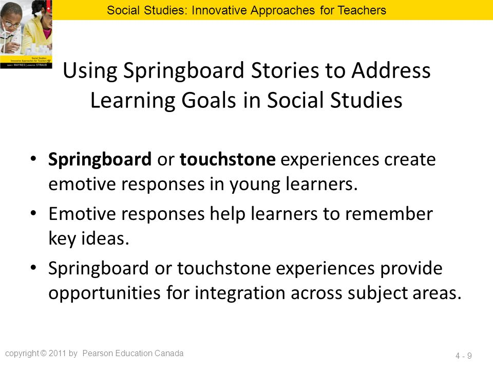 Using Springboard Stories to Address Learning Goals in Social Studies