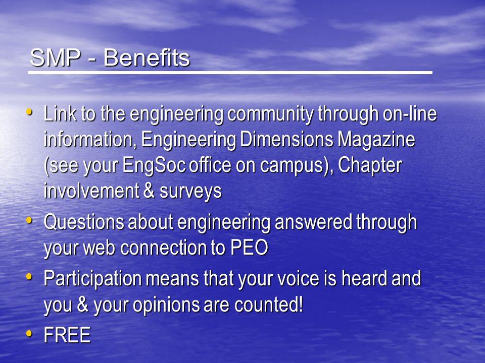 SMP - Benefits