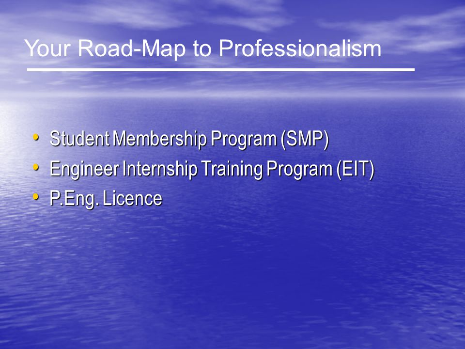 Your Road-Map to Professionalism