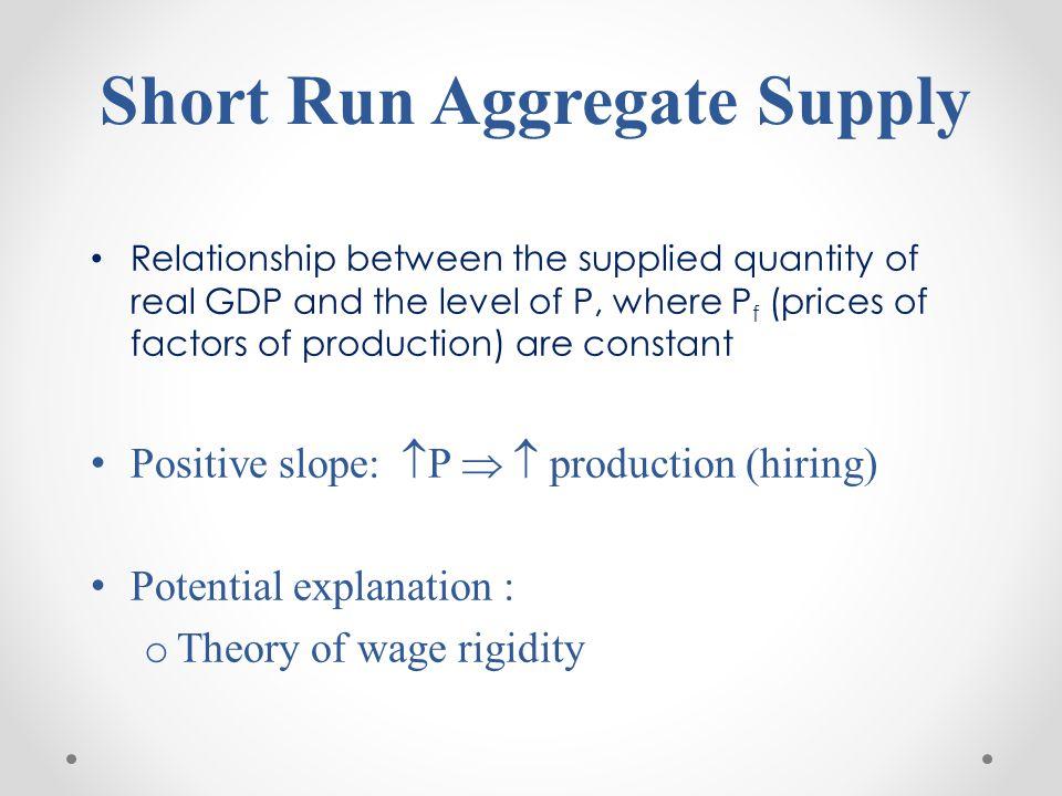 Short Run Aggregate Supply