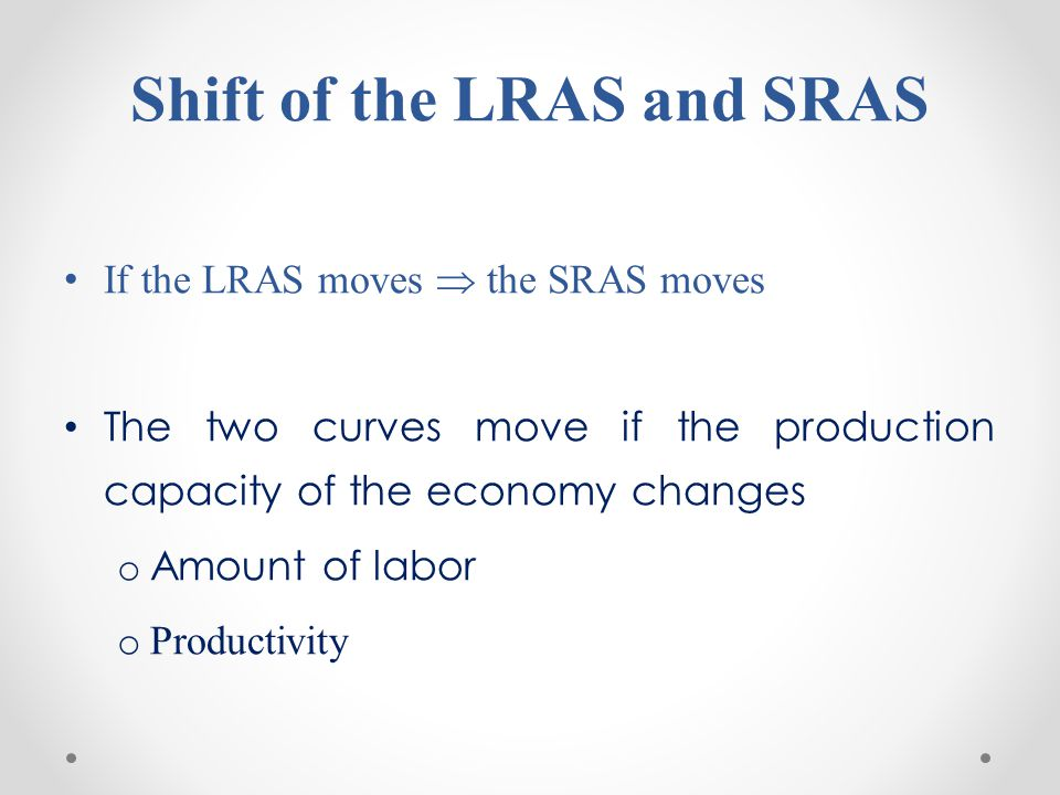 Shift of the LRAS and SRAS