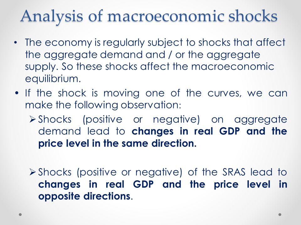 Analysis of macroeconomic shocks
