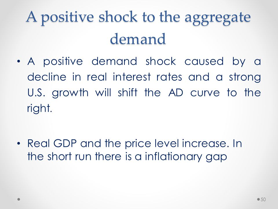 A positive shock to the aggregate demand