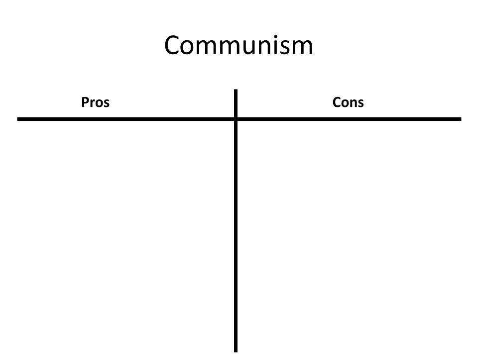 Communism Pros Cons 18