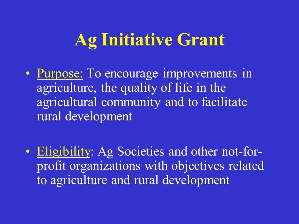 Ag Initiative Grant