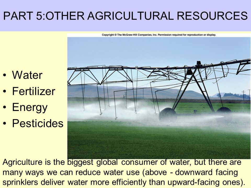 PART 5:OTHER AGRICULTURAL RESOURCES