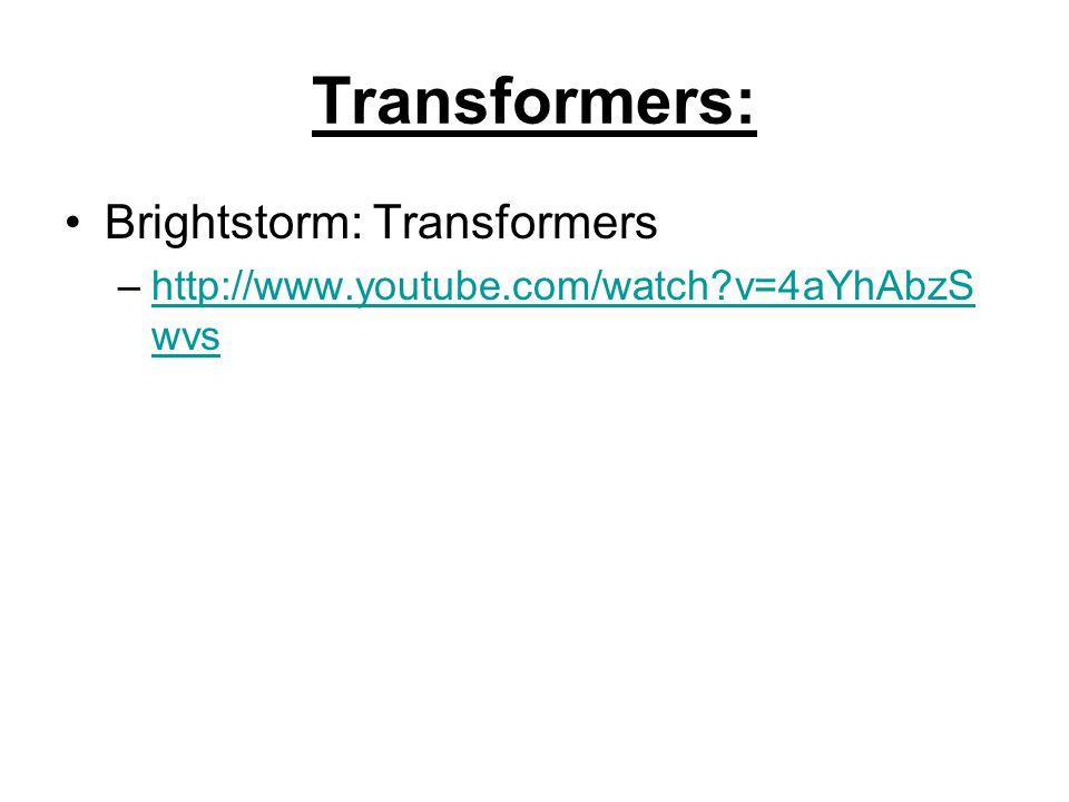Transformers: Brightstorm: Transformers