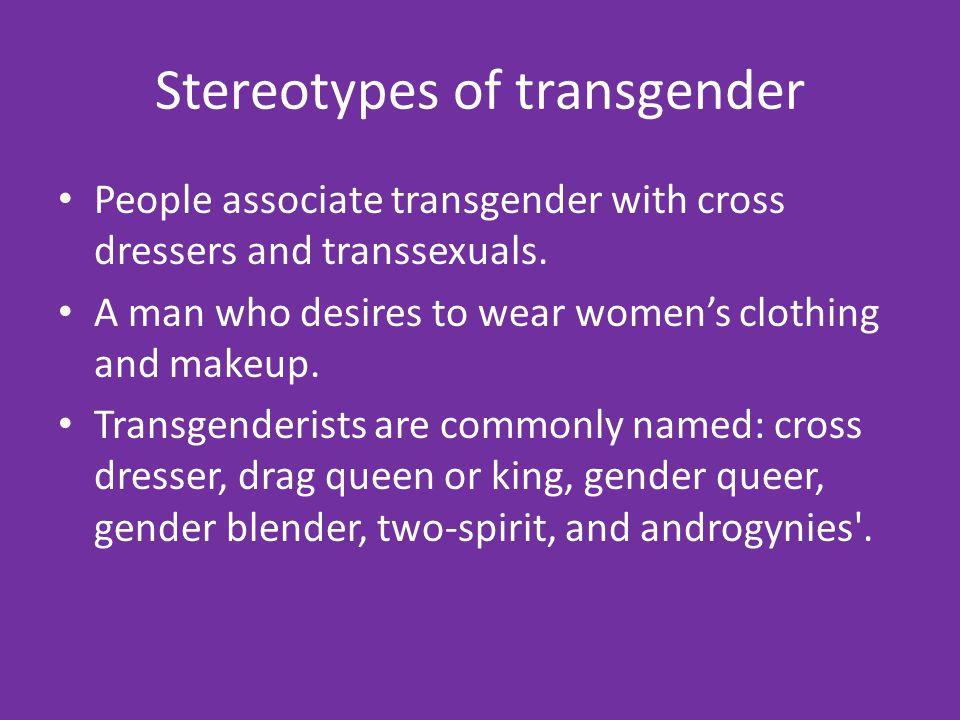 Stereotypes of transgender