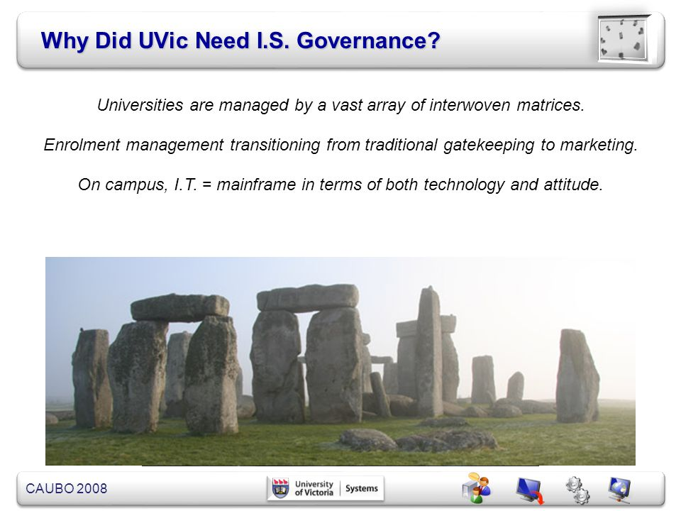 Why Did UVic Need I.S. Governance
