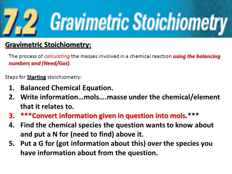 Gravimetric Stoichiometry: