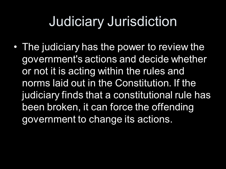 Judiciary Jurisdiction