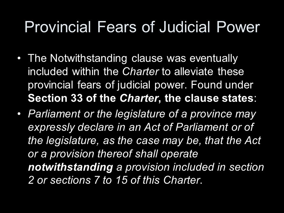 Provincial Fears of Judicial Power