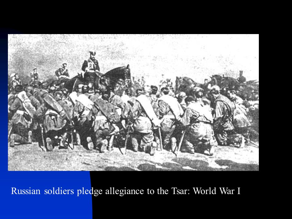 Russian soldiers pledge allegiance to the Tsar: World War I